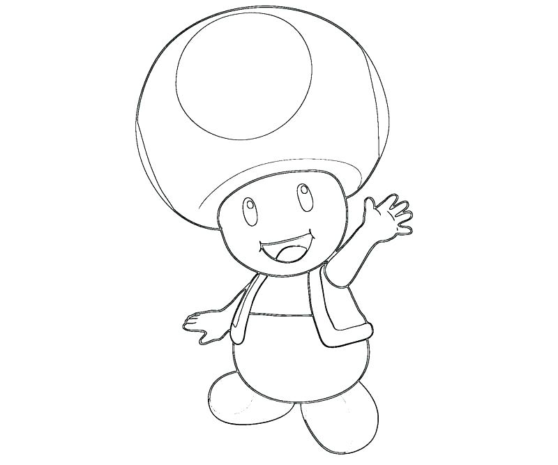 Super Mario Toad Coloring Pages at GetDrawings.com | Free ...