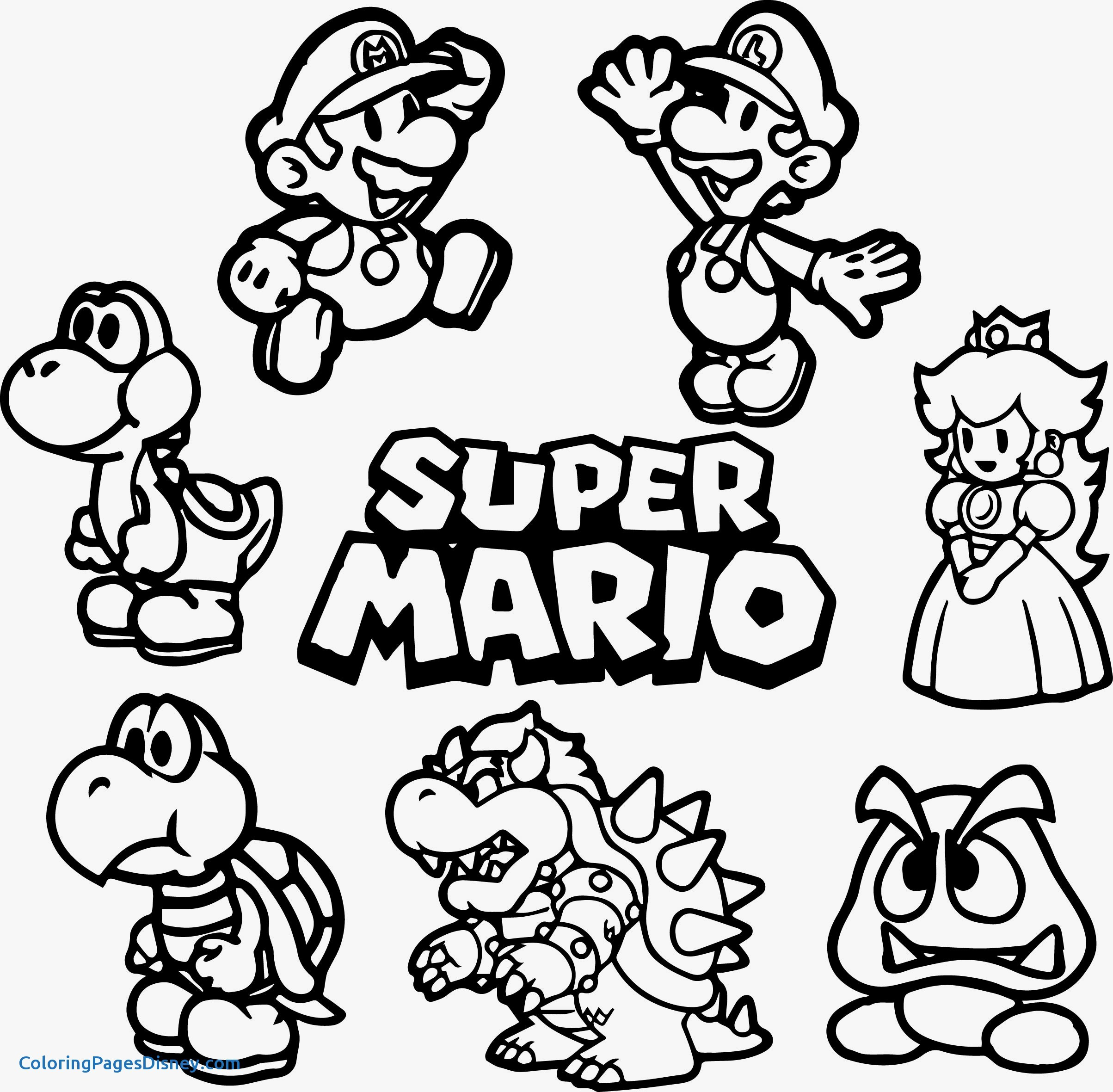 Super Mario Toad Coloring Pages at GetDrawings   Free download