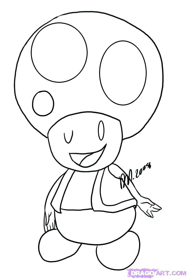 Super Mario Toad Coloring Pages At Getdrawings Com Free For