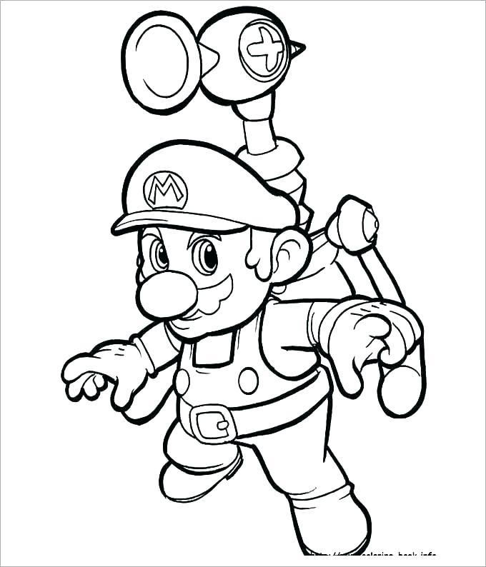 680x794 Mario Bros Toad Coloring Pages Icontent