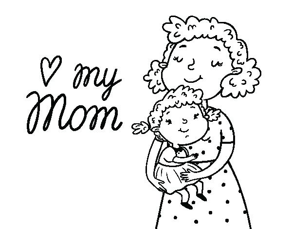 600x470 Mom Coloring Pages Mothers Day Coloring Pages Super Mom Coloring