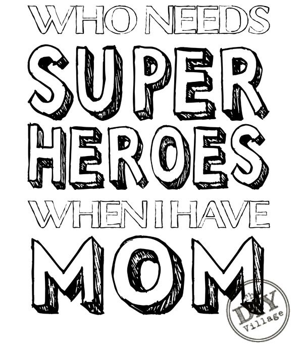 600x703 Mom Superhero Printable Printable Coloring Sheets, Superhero