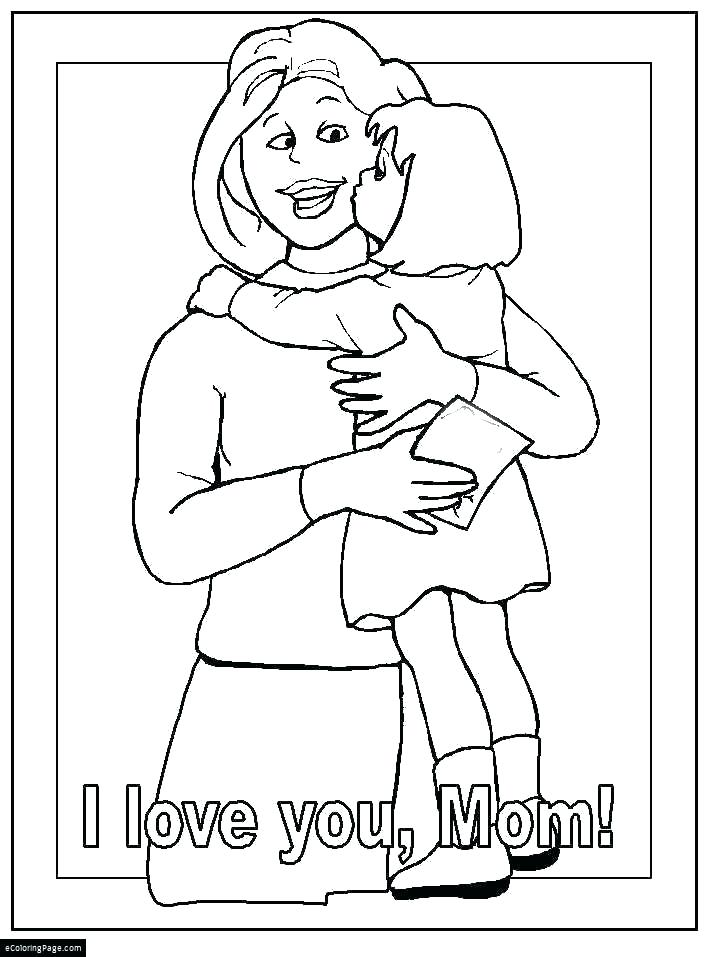 718x957 Mommy Coloring Pages Mom Coloring Pages Mother Coloring Pages