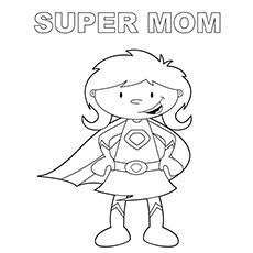 230x230 Super Mom Coloring Page Free Super Mom Online Co Craft Ideas