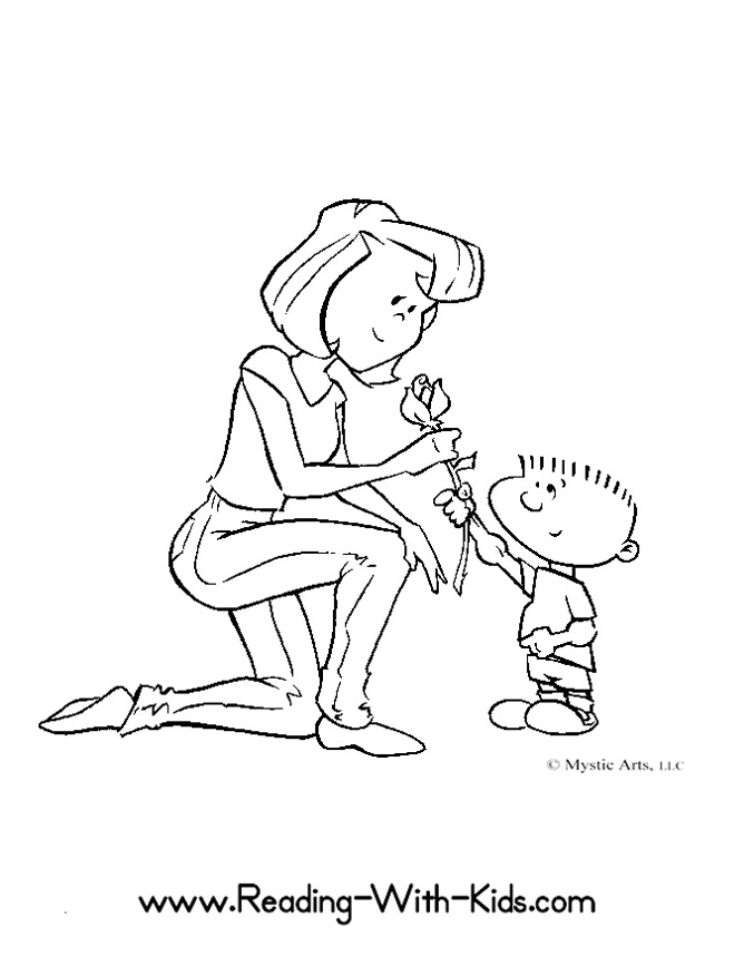 677x876 Amazing Of Simple Super Mom Have Mom Coloring Pages