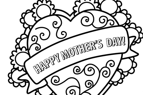 499x333 I Love Mom Coloring Pages Super Coloring For Kids