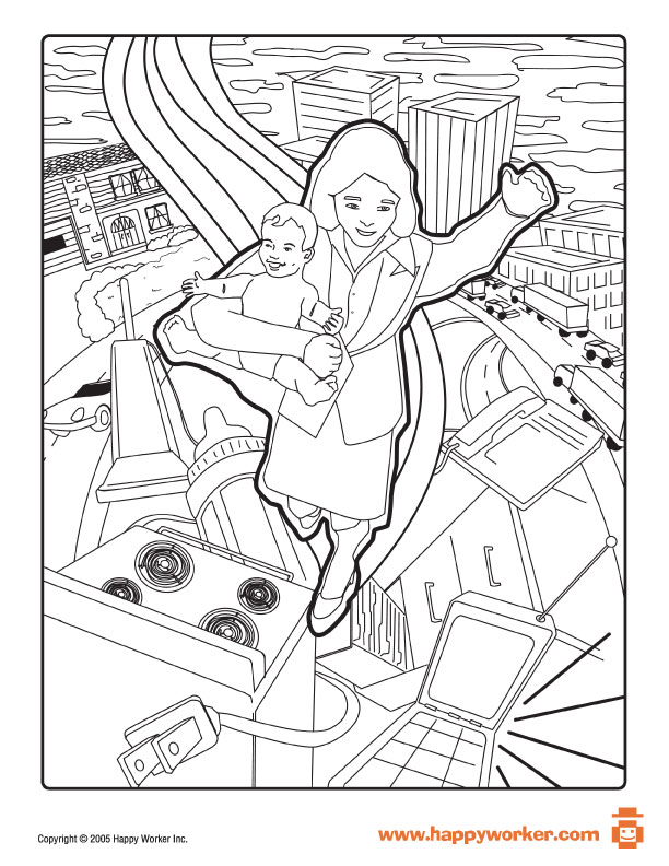 612x792 Happy Mother's Day Coloring Pages