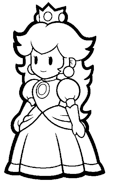 403x650 Super Mario Coloring Pages Super Paper Mario Coloring Pages
