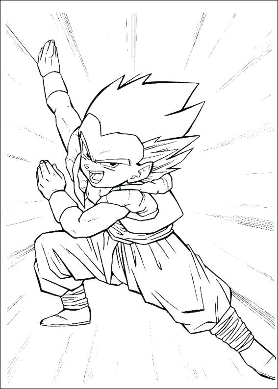 567x794 Goku Coloring Sheets Dragon Ball Z Goku Super Saiyan Coloring