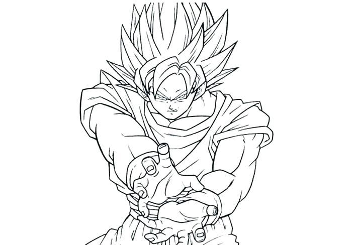 700x500 Goku Super Saiyan Coloring Sheets Pages Page