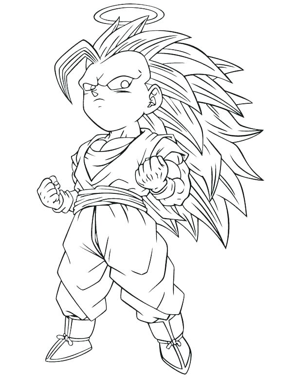 600x776 Goku Super Saiyan Colouring Pages Coloring Dragon God Sheets