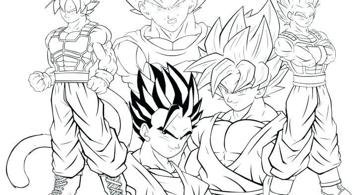 728x393 Goku Super Saiyan Coloring Pages Dragon Ball Z Super Coloring