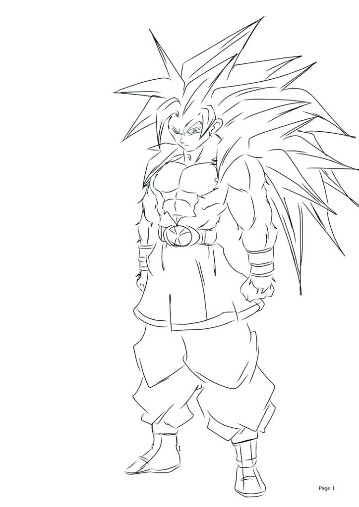 724x1024 Goku Super Saiyan Coloring Pages Super Coloring Sheet Super