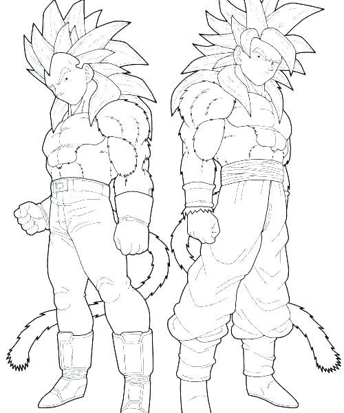 500x600 Dragon Ball Z Coloring Pages Goku Super Saiyan Dragon Ball Z