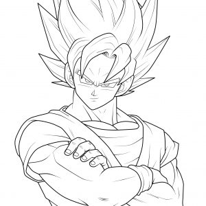 300x300 Dragon Ball Z Super Saiyan Coloring Pages Best Of Dragon Ball Z