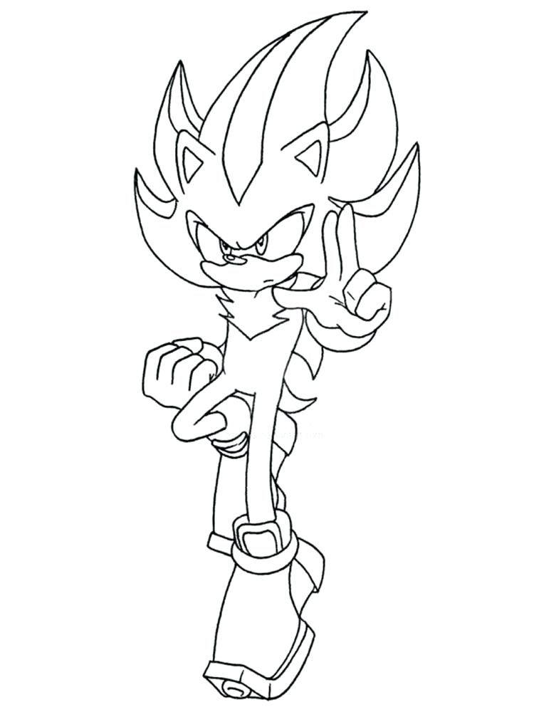 750x1000 Shadow The Hedgehog Coloring Page Shadow The Hedgehog Coloring