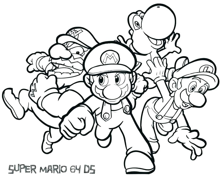 936x749 Paper Mario Characters Coloring Pages Printable Coloring Super