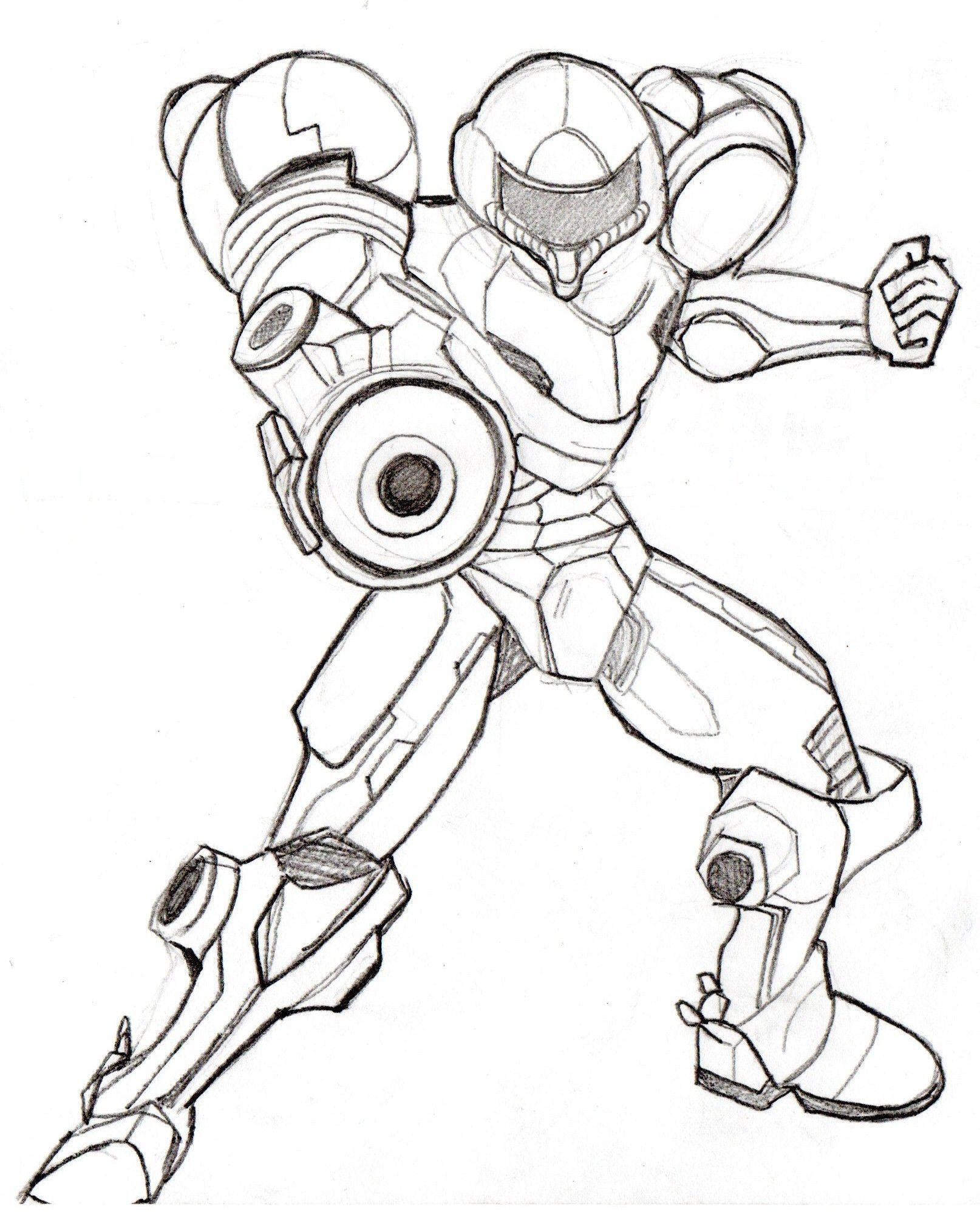 1614x1995 Samus Super Smash Bros Coloring Pages