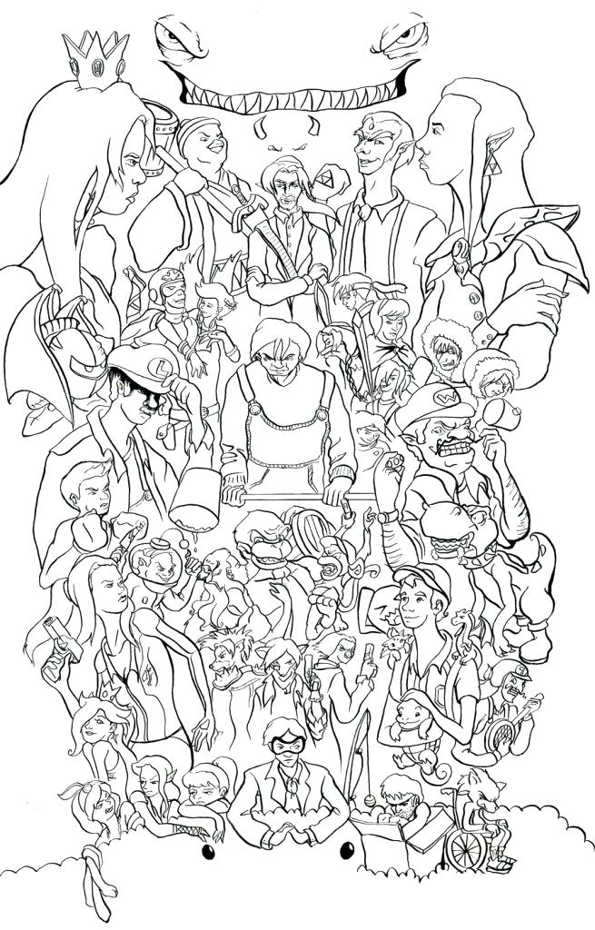 Super Smash Bros Coloring Pages At Getdrawings Free Download
