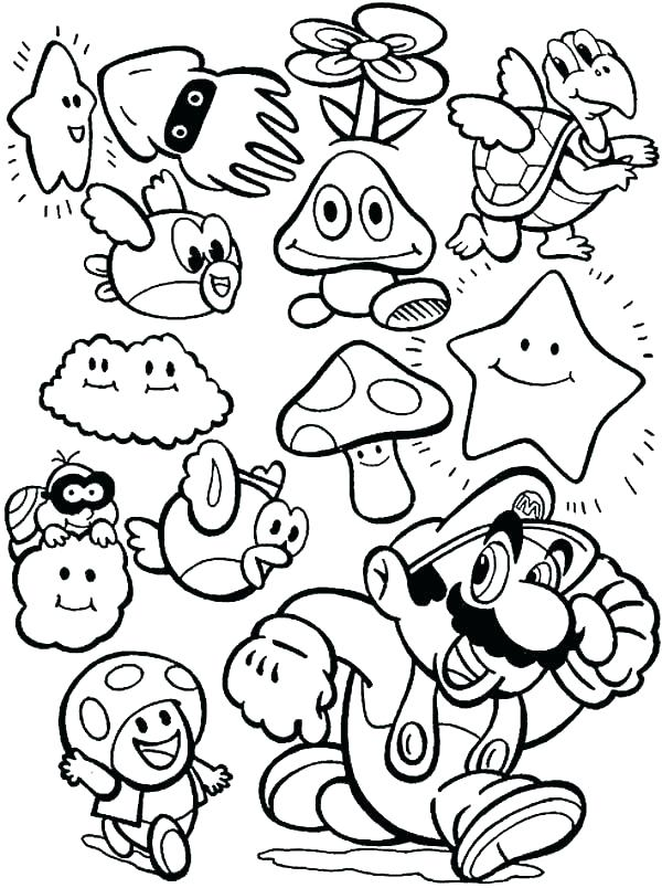 600x804 Super Smash Brothers Coloring Pages Super Smash Brothers Coloring