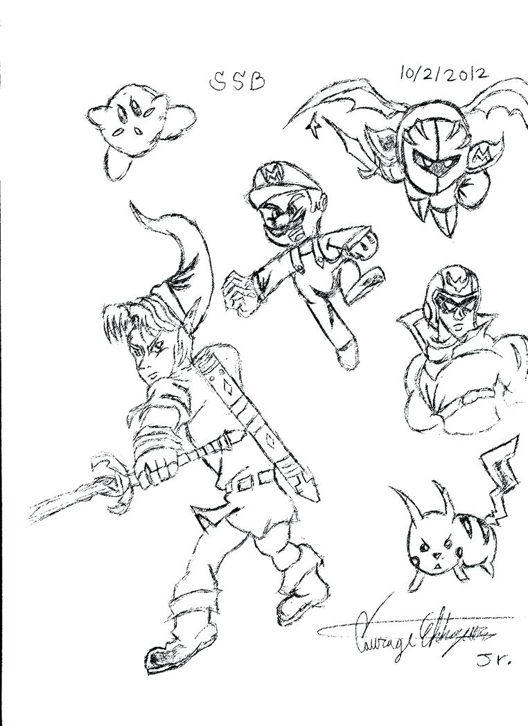 762x1048 Coloring Pages Super Smash Bros Coloring Pages Pics Of Pit