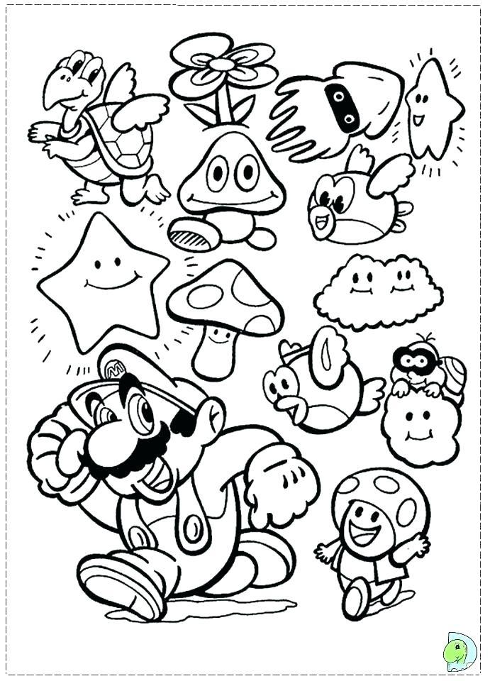 691x960 Super Smash Bros Coloring Pages