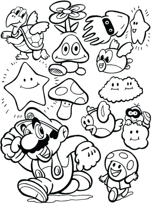 520x698 Interesting Dtlk Coloring Pages Super Smash Bros Brawl Coloring