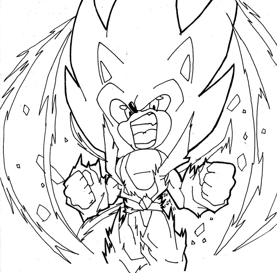 Super Sonic Coloring Pages at GetDrawings | Free download