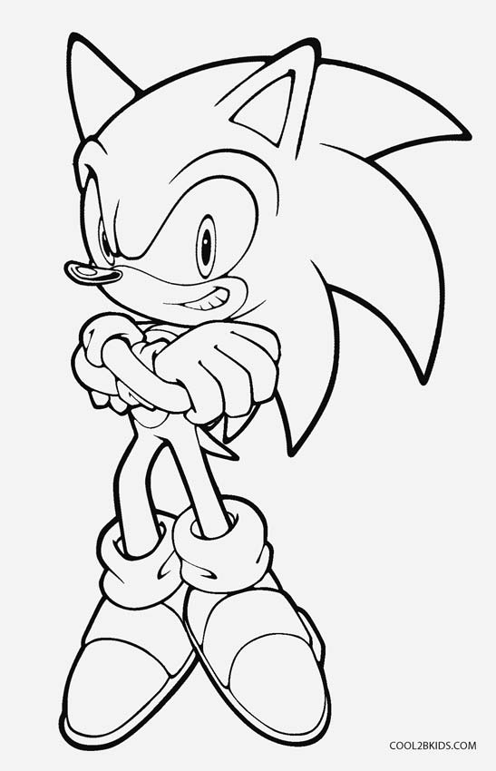547x850 Printable Sonic Coloring Pages For Kids Video Game