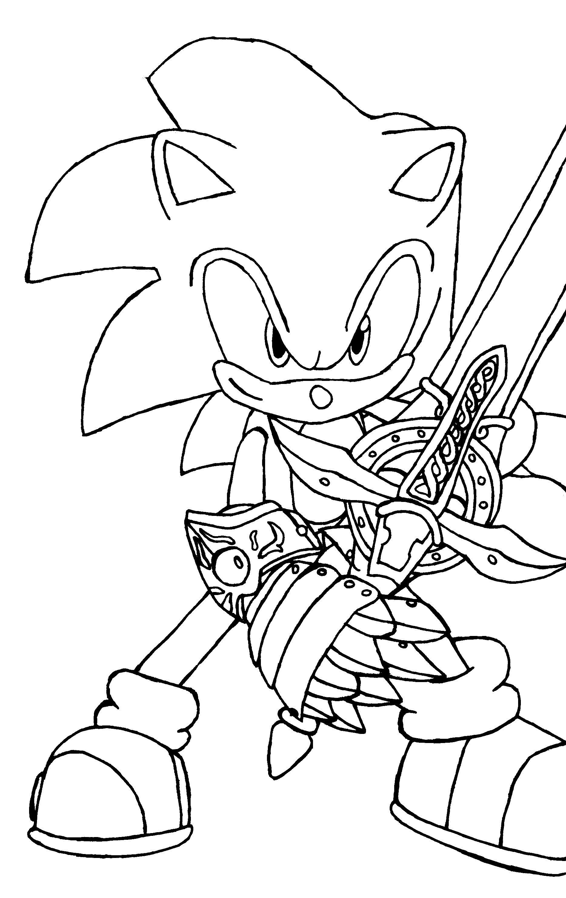 1868x2961 Better Dark Super Sonic Coloring Pages Kids