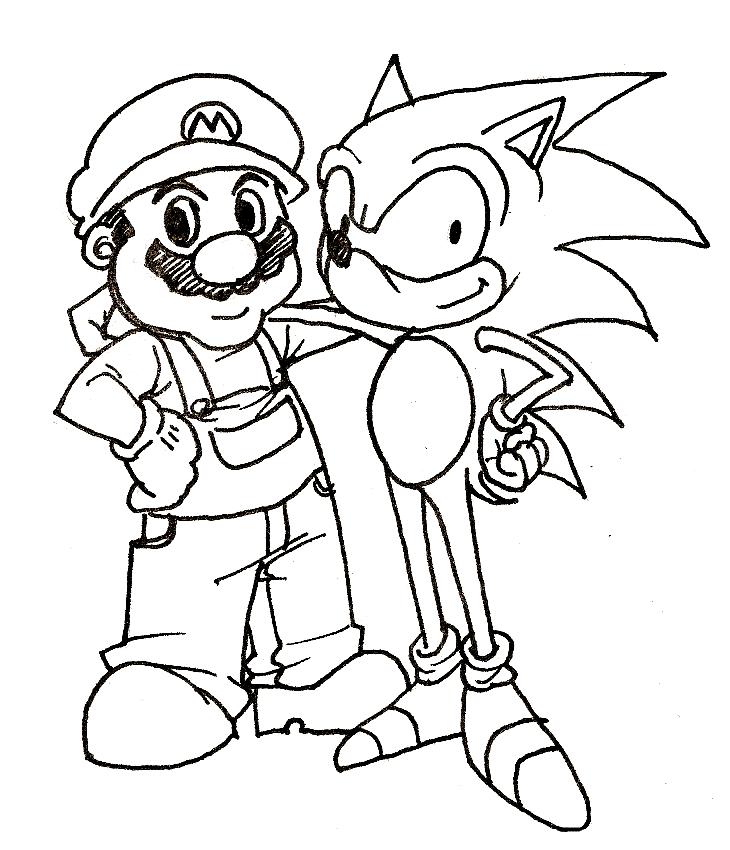 730x850 Sonic And Mario Coloring Pages Mario Bros Games Mario Bros