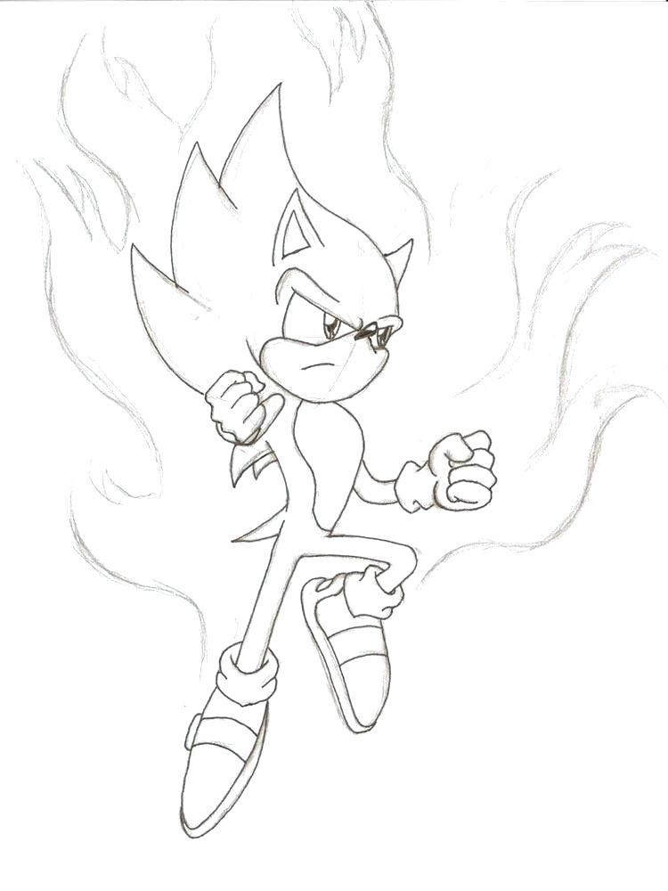 Super Sonic Coloring Pages At Getdrawings Com Free For