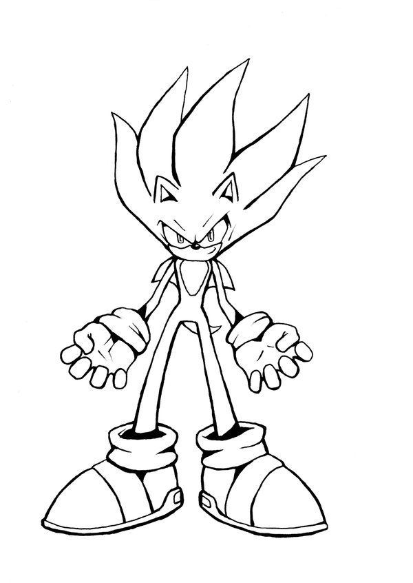 600x846 Awesome Super Sonic Coloring Pages Free Download Anime
