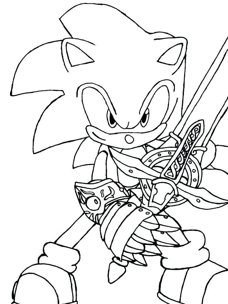 750x1000 Printable Sonic Coloring Pages Vanda