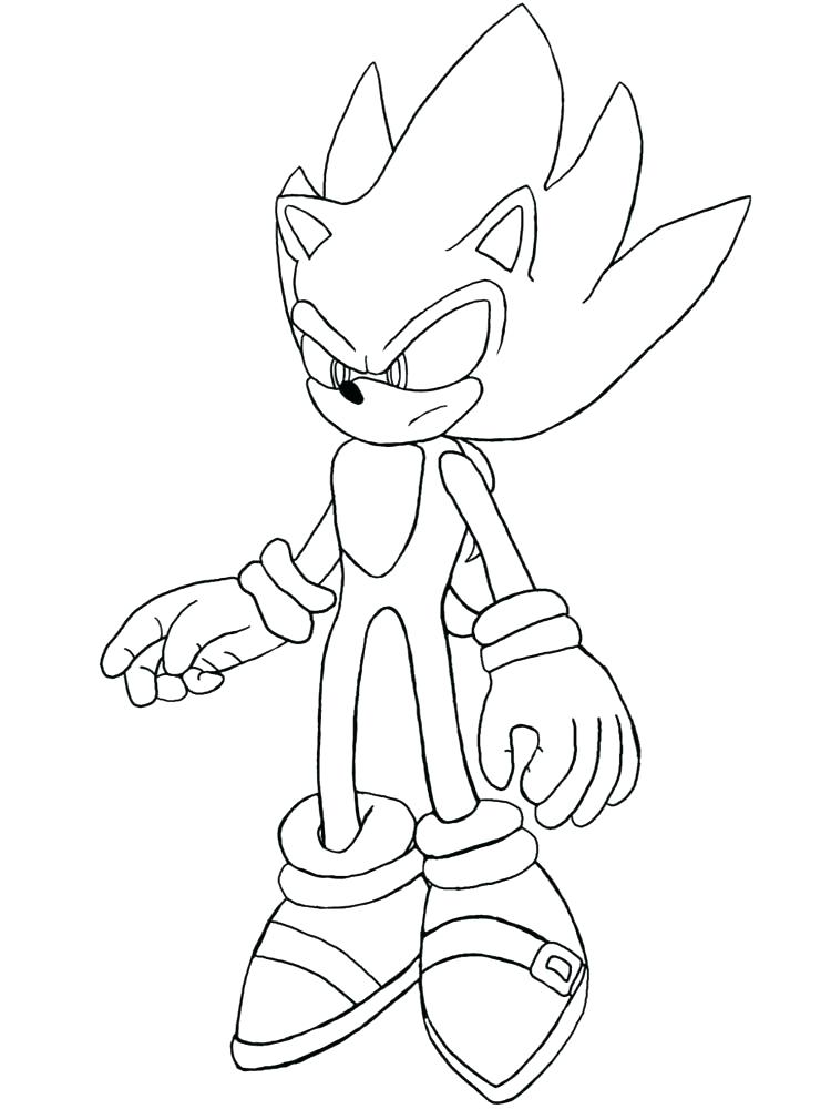 750x1000 Dark Super Sonic Coloring Pages Sonic Coloring Pages Disney Pdf