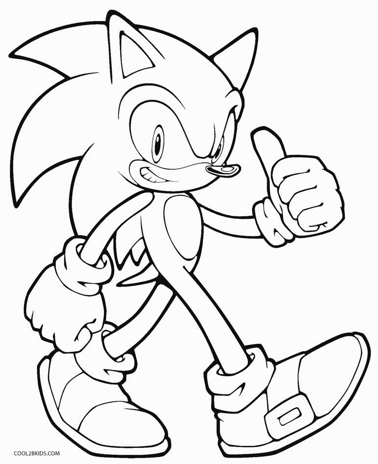 Super Sonic The Hedgehog Coloring Pages