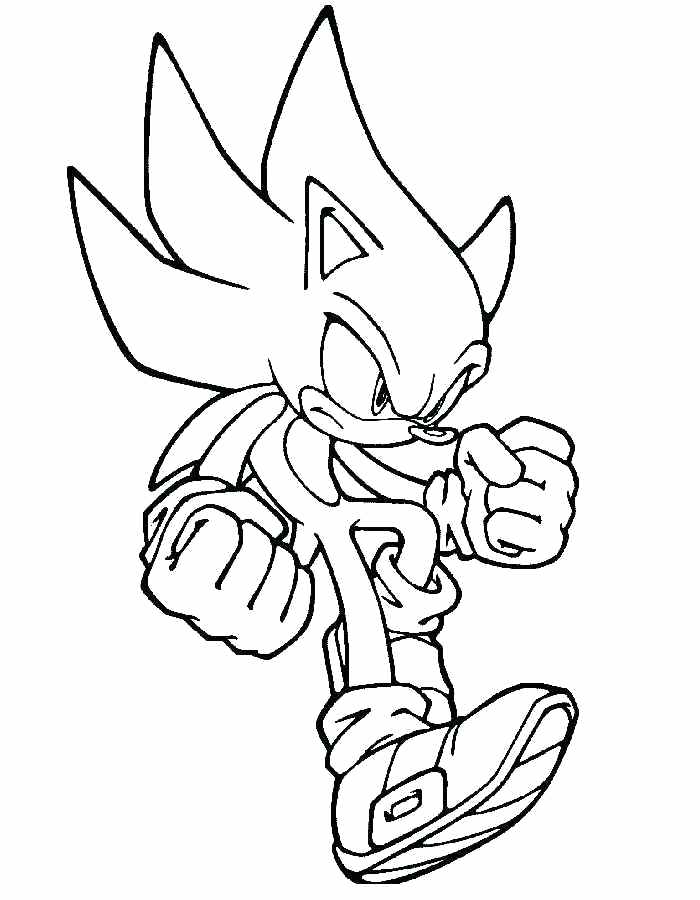 Super Sonic The Hedgehog Coloring Pages at GetDrawings ...