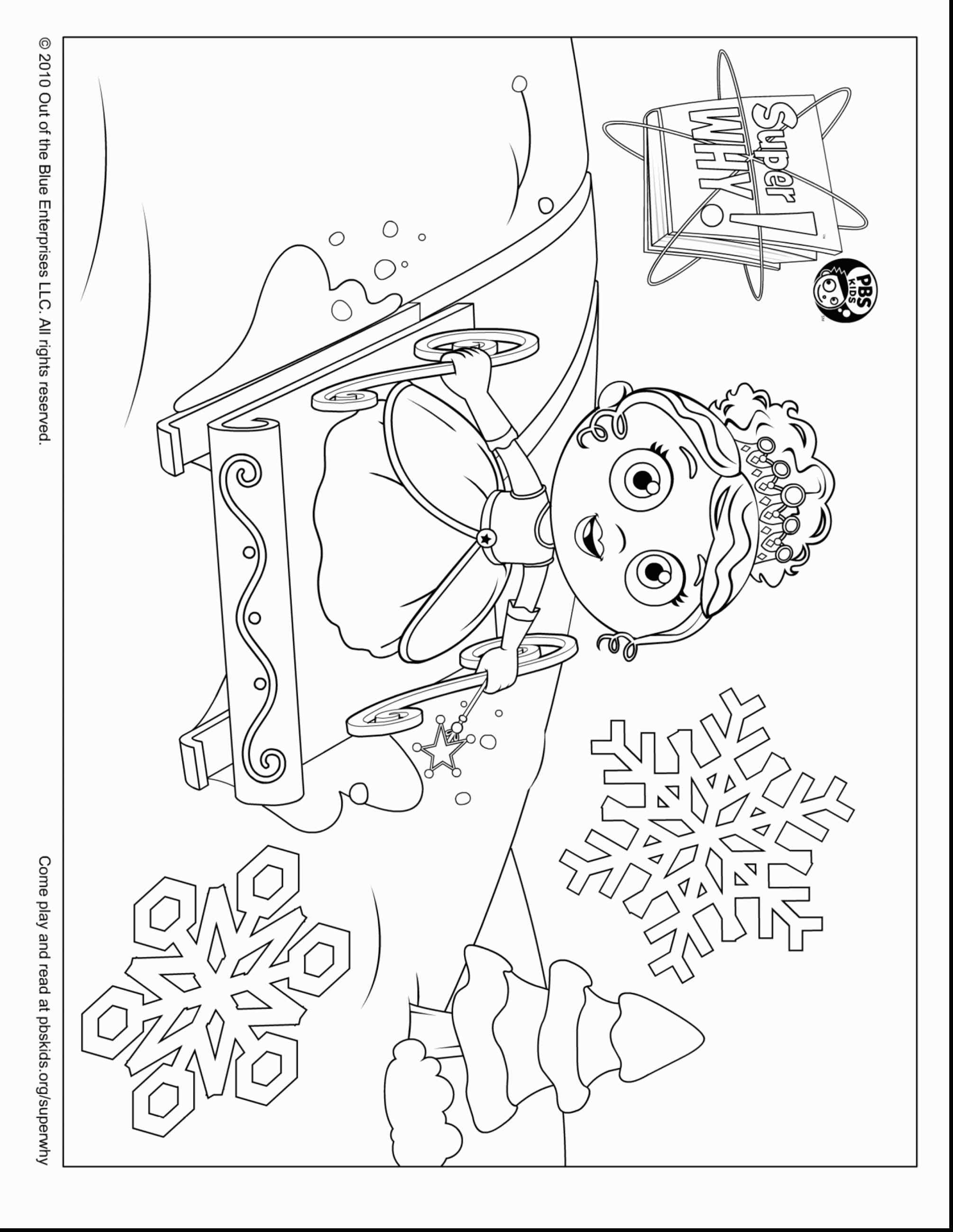 2010x2598 Simple Woofster Coloring Pages Super Why Online Printable
