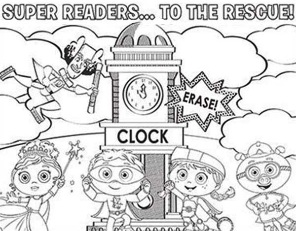 600x469 Super Readers Coloring Pages