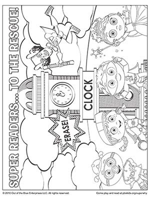 300x400 Super Why Coloring Pages