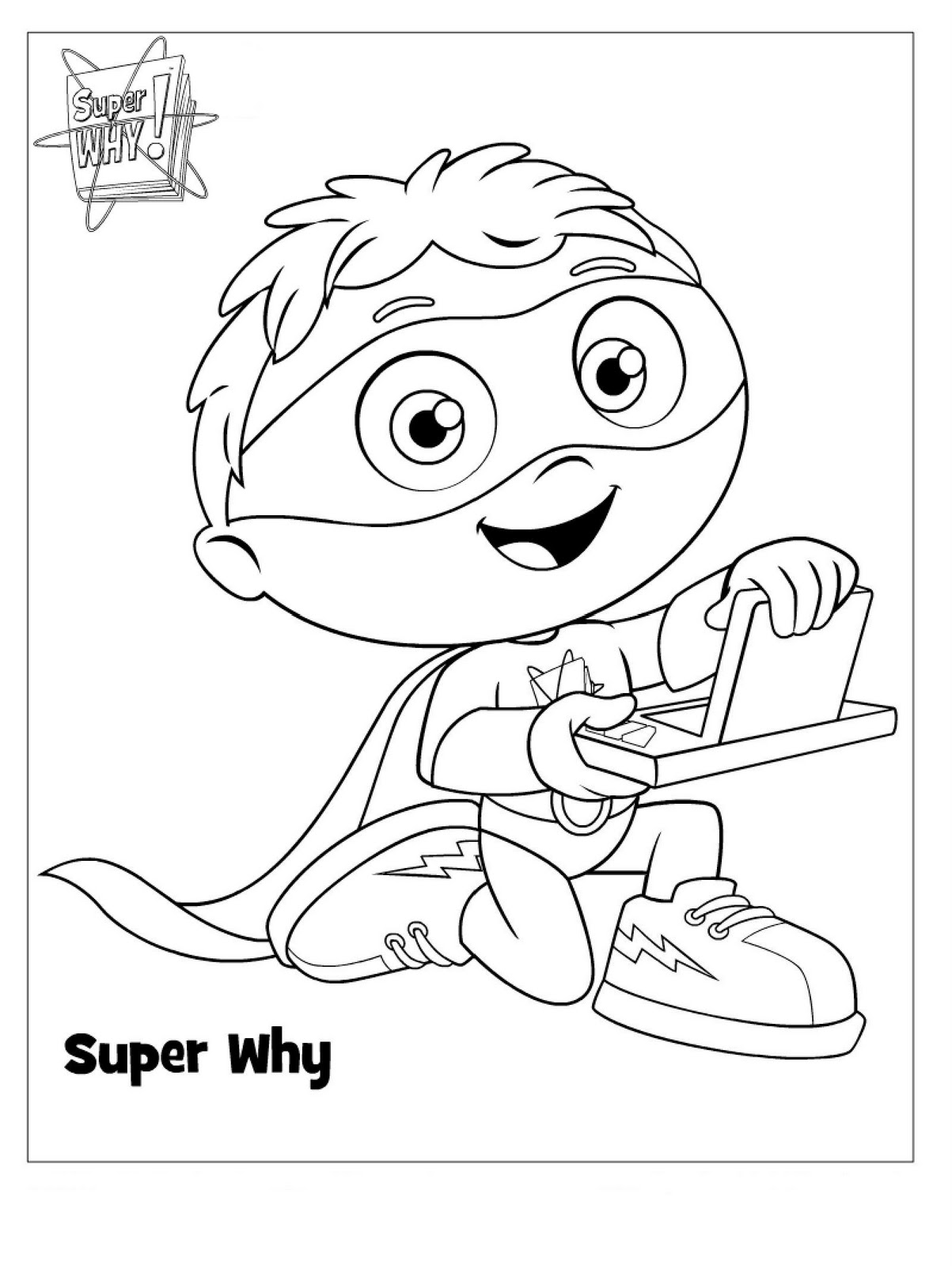 1203x1600 Super Why Coloring Pages