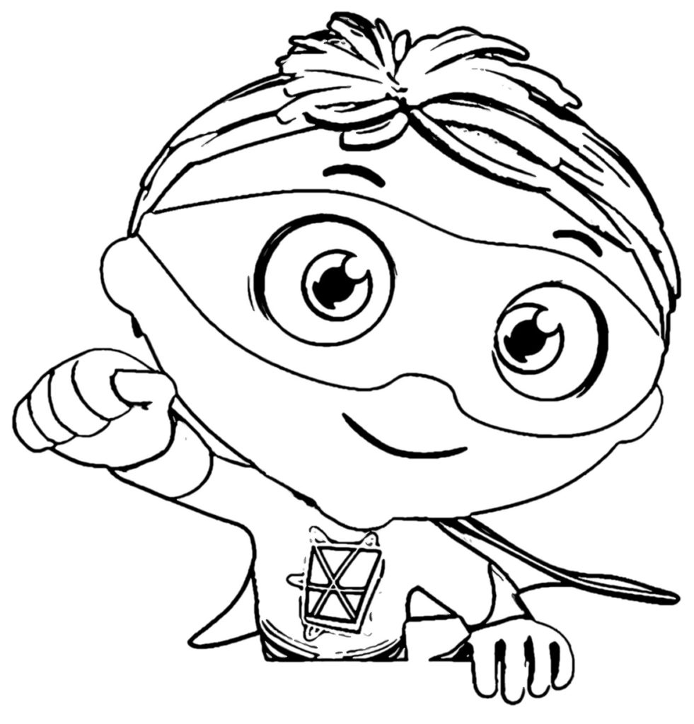 981x1024 Super Why Coloring Pages Best For Kids Get Bubbles