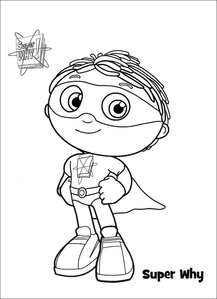 740x1018 Super Why Coloring Pages Printable