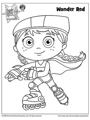 300x400 Super Why Coloring Book Pages Parents, Books And Birthdays