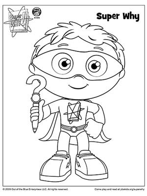 300x400 Super Why Coloring Book Pages Writer, Parents And Books
