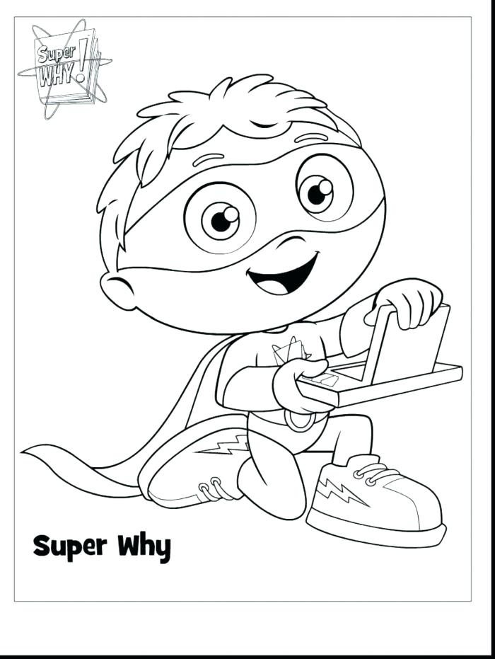 picture relating to Super Why Printable titled Tremendous Why Printable Coloring Web pages at  Totally free
