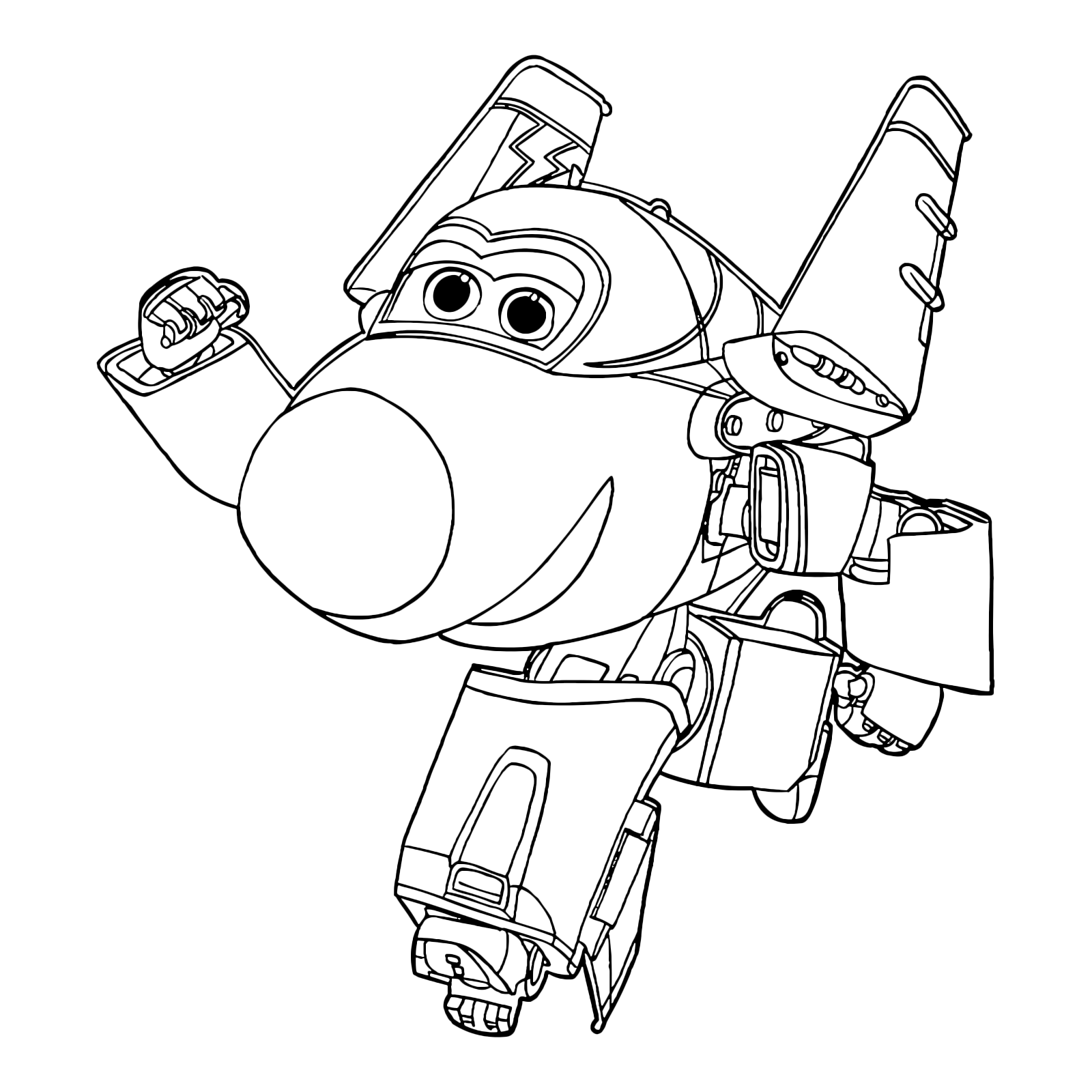 Super Wings Coloring Pages at GetDrawings | Free download