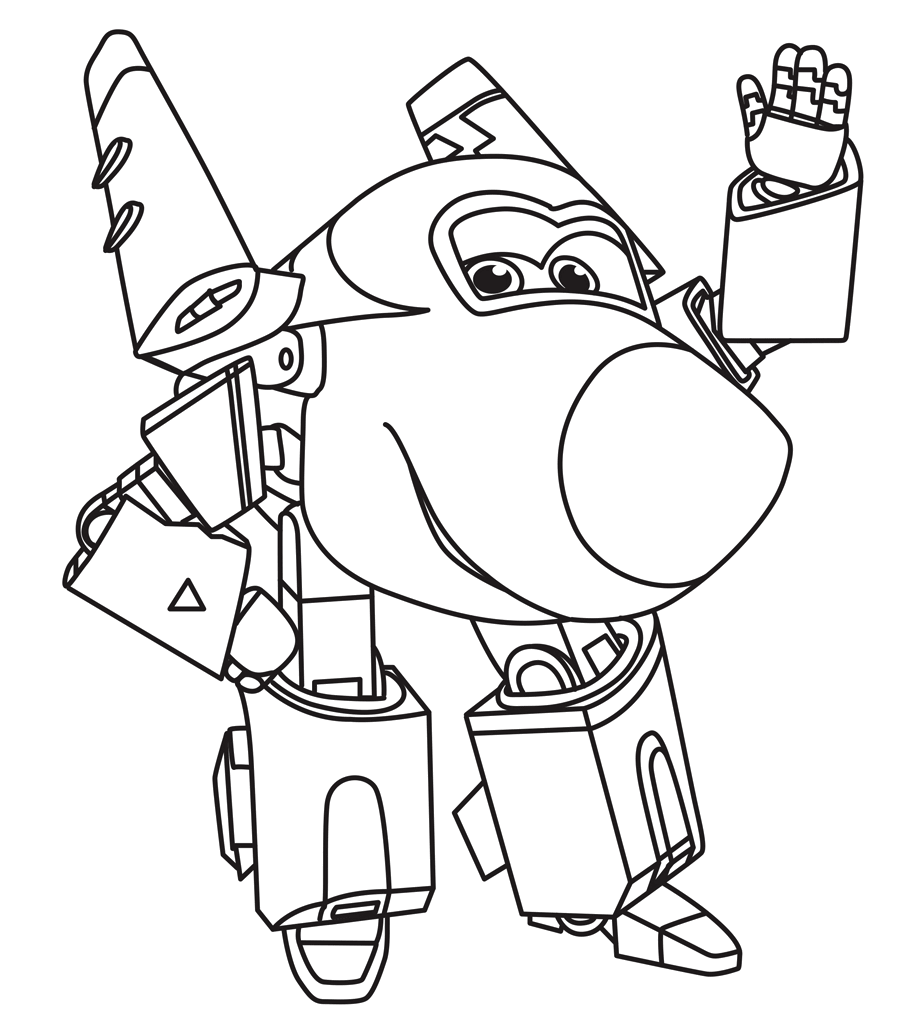 Super Wings Coloring Pages At GetDrawings