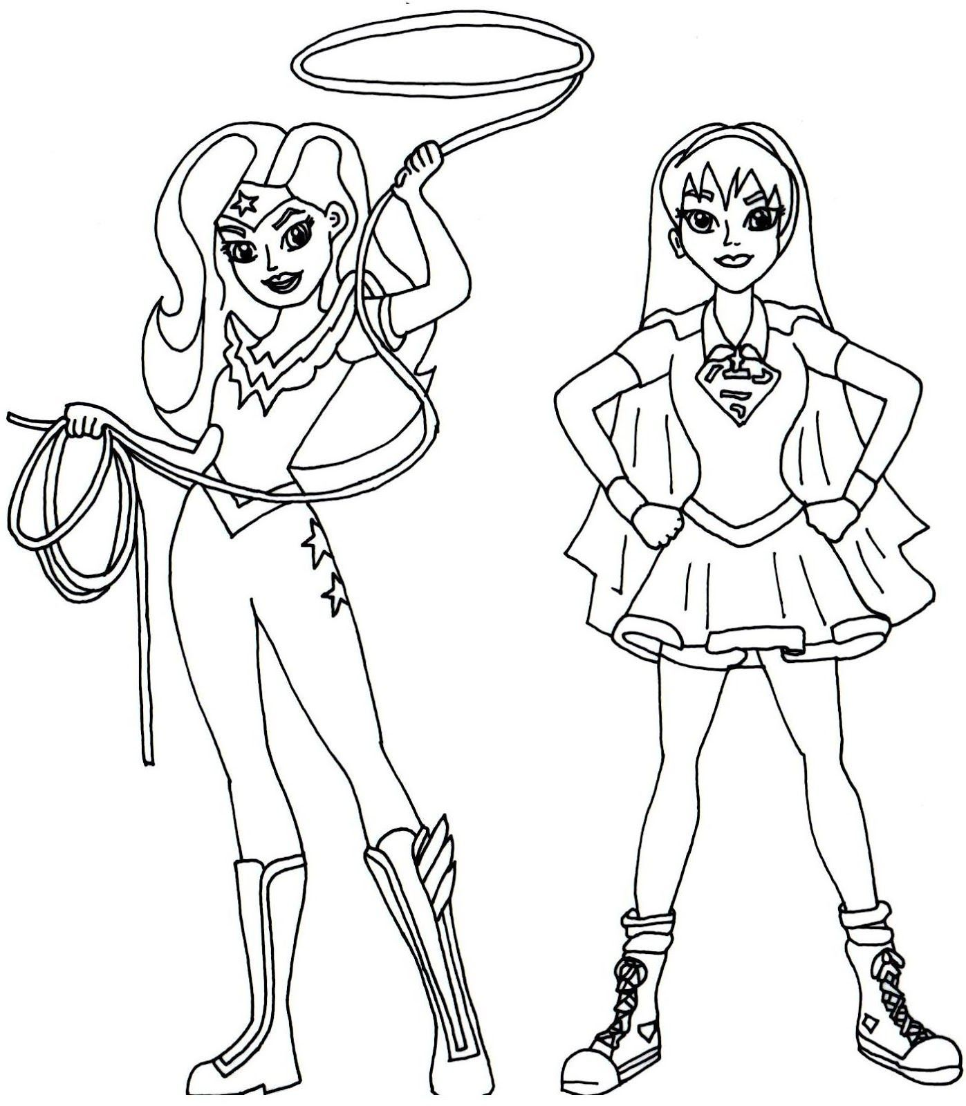 The best free Supergirl coloring page images. Download from ...