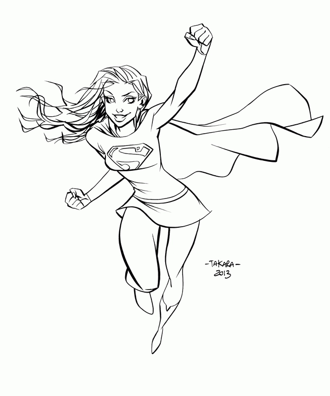 667x800 Supergirl Coloring Pages Inspirational Supergirl Coloring Page Az
